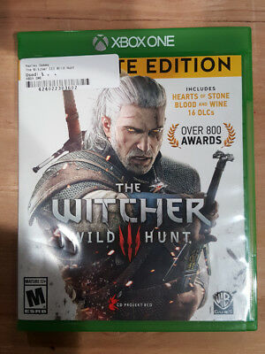 Witcher 3: Wild Hunt (Microsoft Xbox One, 2015) Complete Edition DLC on disc