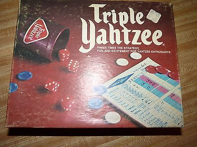 Triple Yahtzee Dice Game Milton B, 1975 Unplayed /Complete some contents SEALED
