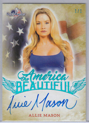 2017 Benchwarmer America The Beautiful Allie Mason Ice Blue Autograph /1 1/1