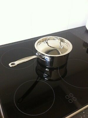 CUISINART Stainless Steel Small Saucepan with Lid 8cm H x 18cm D
