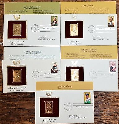 Black Heritage Series - 22K Gold Replica Stamps First Day Of Issue