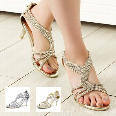 FREE SHIP SheSole Womens Low Heel Strappy Sandals Wedding Party Shoes