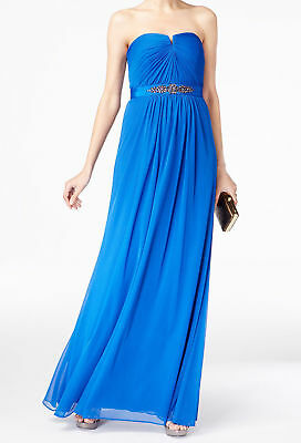 846e68834d94 Adrianna Papell NEW Blue Womens Size 2 Strapless Ruched Gown Dress $189 040