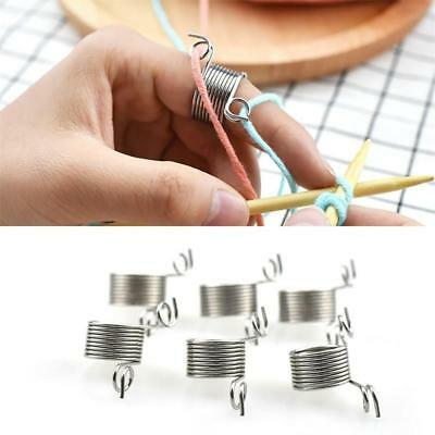 Winter Wool Braided Knitting Ring Tools Finger Thimble Yarn Needle Guide Sewing