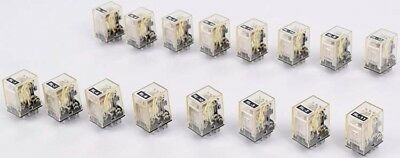 Lot of 16 Omron Automation MY4 24VDC 5A 240VAC 14-PIN Relay Module Units