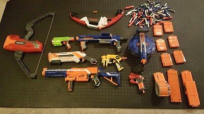 Nerf Gun Lot-Ammo,Weapons,And Magazines