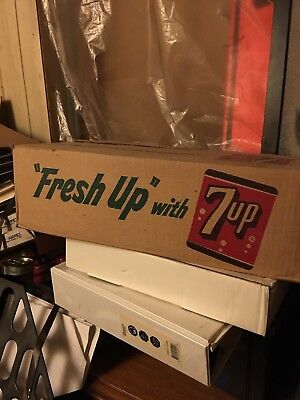 7 Up Cans 24 Pack In Case Wow!!!! 1960s