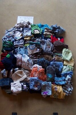 Baby Boy Clothing: 3 - 6 Month Size, Mixed Brands, Lot of 50 + Items