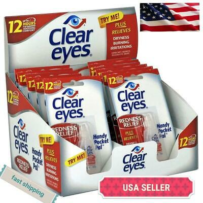 12-pack CLEAR EYES  DROPS REDNESS RELIEF 0.2 oz (2020 Exp)