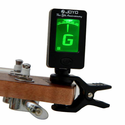 Guitar Tuner Clip-on Electronic Digital LCD Chromatic Bass Violin Ukulele Black