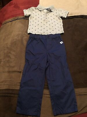 Crown & Ivy Baby Boy Polo Short And Pants Set Size 18 Months NEW!!