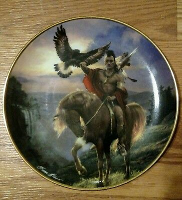 """Spirit Of The East Wind Franklin Mint Plate Western Heritage Museum  8 1/4"""""""