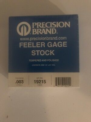 Feeler Gauge,High Carbon Steel,0.0250 In PRECISION BRAND 19705