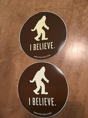 GREAT DIVIDE BREWING CO Yeti I BELIEVE STICKER decal craft beer brewery updated