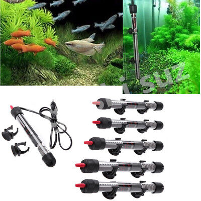 Adjustable Stainless Aquarium Submersible Fish Tank Water Heater Rod 25 - 300W