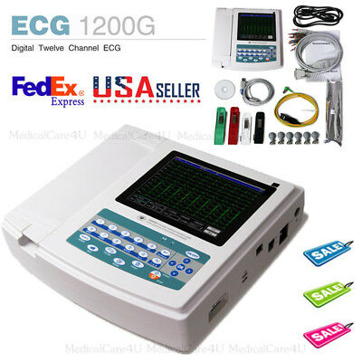 Touch 12 Channel EKG electrocardiograph,ECG Machine with Interpretation Software