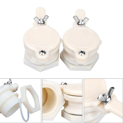 2x High Quality Nylon Honey Gate Valve Honey Tap Beekeeping Bottling Tool White