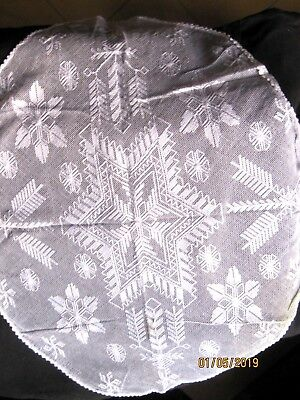 vntage oval lace table cloth