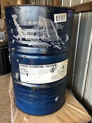 Mineral Turpentine Turps  200 Litre Drum Paint Thinner Cleaner