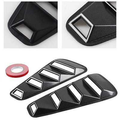 2Pcs Quarter Side Window Louvers Scoop Cover Vent For 2005-2014 Ford Mustang @ &