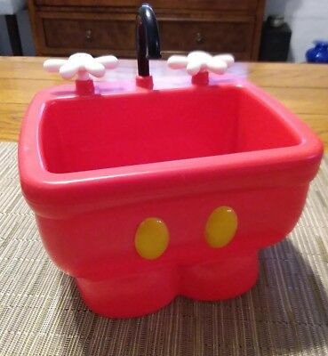 Disney Parks Mickey Mouse Red Pants Kitchen Sink Ice Cream Dish