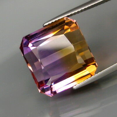 21.33Ct.Real! 100%Natural HUGE Purple&Golden Bolivia Ametrine Perfect Shape!