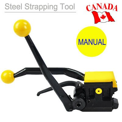 "A333 Manual Steel Strapping Tool High Strength 1/2""-3/4"" Packaging Equipment CA!"