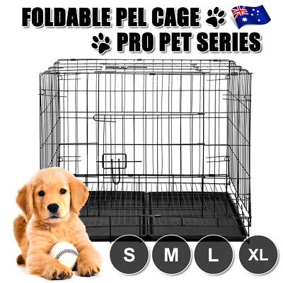 Dog Cage Dog Crate Kennel Large Dog Metal Bed Pet Cat House Cage S M L XL