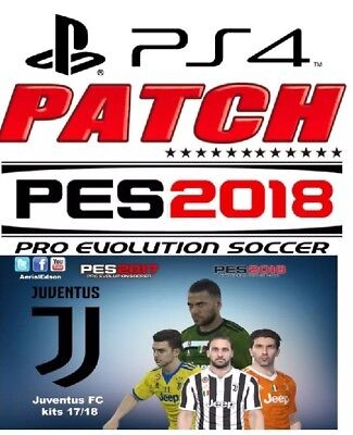 Patch Originale Ps4 E Pc - Pes 18 Option File Pes 2018 Con  Bundesliga E Serie B