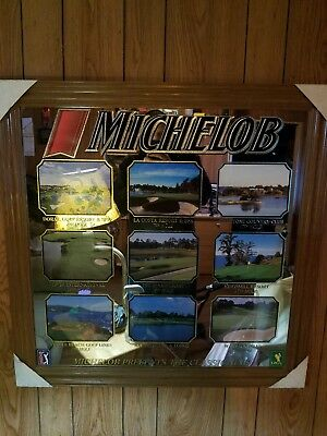 Rare Michelob Beer Presents The Classic Nine PGA Tour Golf Course Beer Mirror