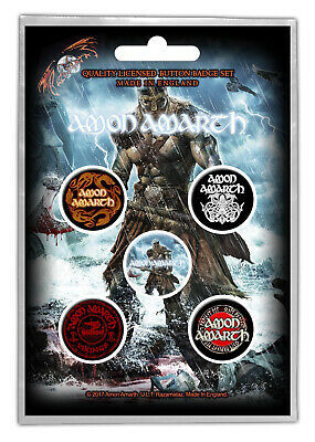 Amon Amarth Jomsviking Button Badge Pack Metal Badges Official