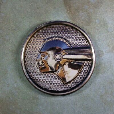 "Vintage Style Car Emblem Photo Fridge Magnet 2 1/4"" Pontiac Indian Chief Custom"