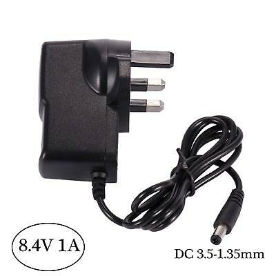 DC 8.4Volt 1A Power Adaptor Charger AC 100-240V Supply UK Plug Mains 3.5*1.35mm