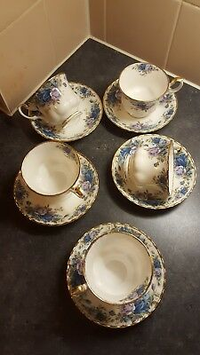 Royal Albert Moonlight Rose 5 Cups And Saucers