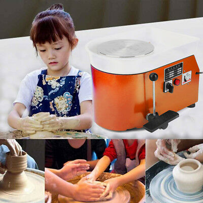 Electric Pottery Wheel Pottery Machine Ceramic Clay 25cm Throwing Machine 220V