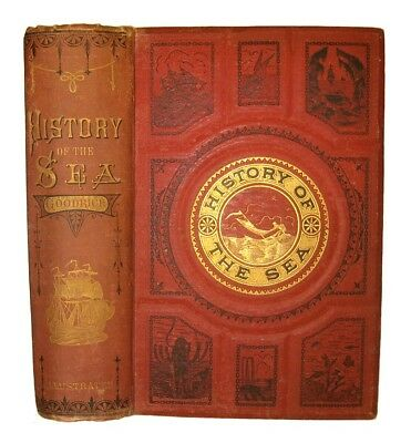 OCEAN MARITIME SEA HISTORY 1875 Ship SHIPWRECKS NAUTICAL PIRATE Shark Sail DIVER