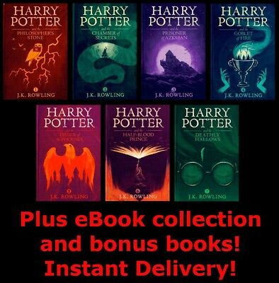 Harry Potter Audiobook 1-8 Read by Stephen Fry Digital MP3 Download Audio book