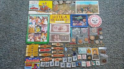 Huge Not So Junk Drawer Misc Lot 250+ Vintage Jewelry Coin Bill Card Stamp Label