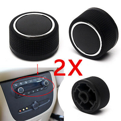 For 2pcs 07-13 Chevrolet GMC Cadillac Buick Rear Audio Radio Control Knob Button
