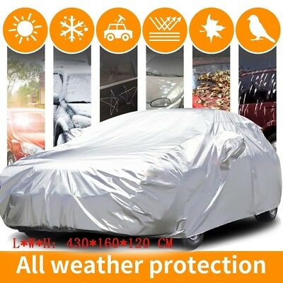Aluminum 3Layer Mid Size 100% WaterProof Car Cover Weather Proof Heat Resistant