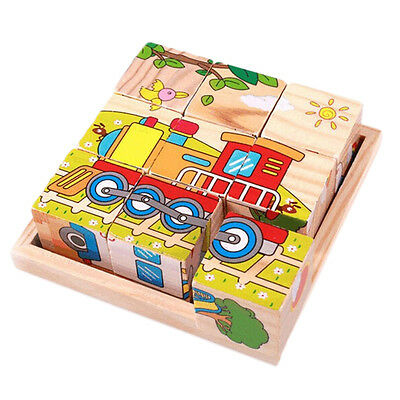 1Pcs Wood Plate for Six-Sided Painting Building Block Wood Pallet 12cm X 12cm _A