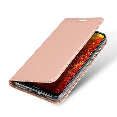 DUX DUCIS PU Leather Wallet Smart Magnetic Flip Case for Nokia 8.1 - Rose Gold