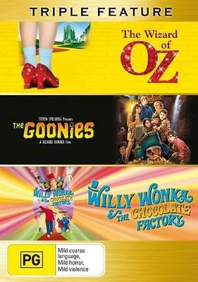 The Goonies  / Willy Wonka And The Chocolate Factory  / Wizard Of Oz (DVD)