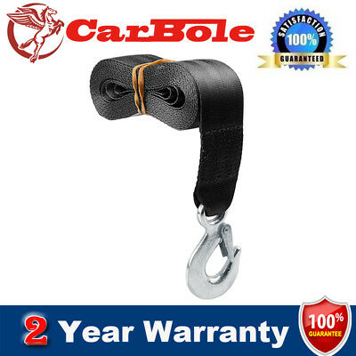 """Deluxe Boat Trailer Winch Strap 2"""" x20' with Snap Hook Trailer Towing Heavy Car"""