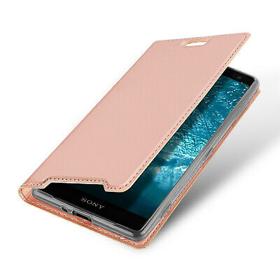 DUX DUCIS PU Leather Wallet Smart Flip Case for Sony Xperia XZ3 - Rose Gold