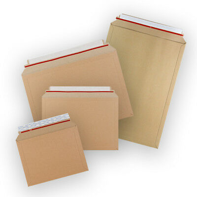 All Sizes Manilla Capacity Book Mailer Peel&Seal Envelopes Free P&P