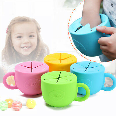 Baby Silicone Unbreakable Cup Toddlers Snack Bowl No Spill Storage Container 1PC