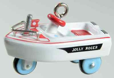 Hallmark Miniature Ornament Kiddie Car Classics Jolly Roger Flagship Pedal Car