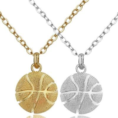Necklace Pendant Stainless Steel Chain Basketball Hip Hop Jewelry Valentine Gift