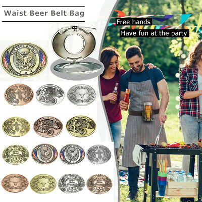 Outdoor Metal Beer Head Belt Funny Bottle Buckle Can Holder for Camping Picnic
